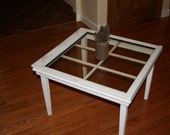 shabby chic distreessed look old window coffee table