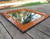 14 x 15  stained wood and metal Mirror