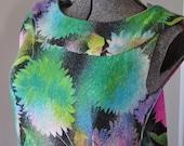 Beautiful Multicolored Floral Vintage Dress