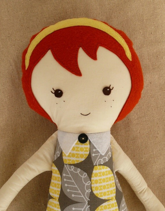 Large Cloth Doll with Red Hair