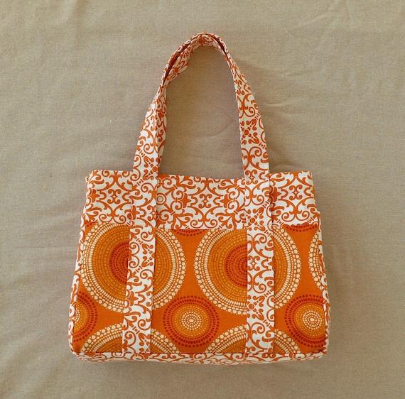 Trendy Orange Diaper Bag Baby Bag