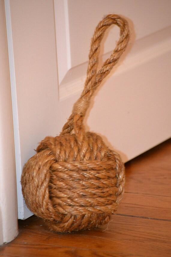 Nautical Monkey's Fist door stop, bookend, paperweight