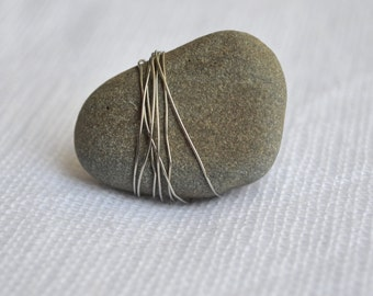 Wire Wrapped Rock Ring