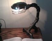 Industrial Black Metal Pipe Desk Lamp: PDL-03
