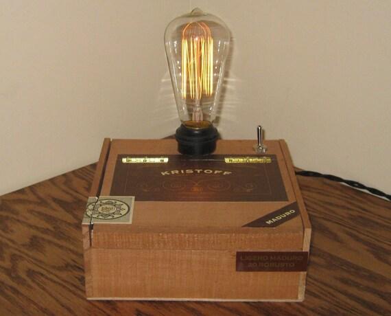 Cigar Box Desk Lamp: Kristoff