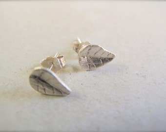 Sterling Silver Earrings - Leaf Post/ Studs