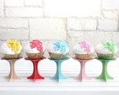 RESERVED LISTING for Yustay01 - Mini Paper and Wooden Cupcake Stands