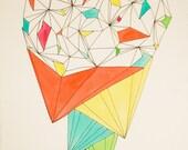 February 2, 2012 (Brain Power) - original ink, gouache, & watercolor drawing