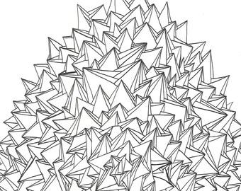 Systemic 4 - original ink drawing, illustration