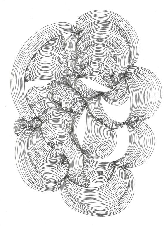 April 30, 2012 (Finite 5) - original ink drawing