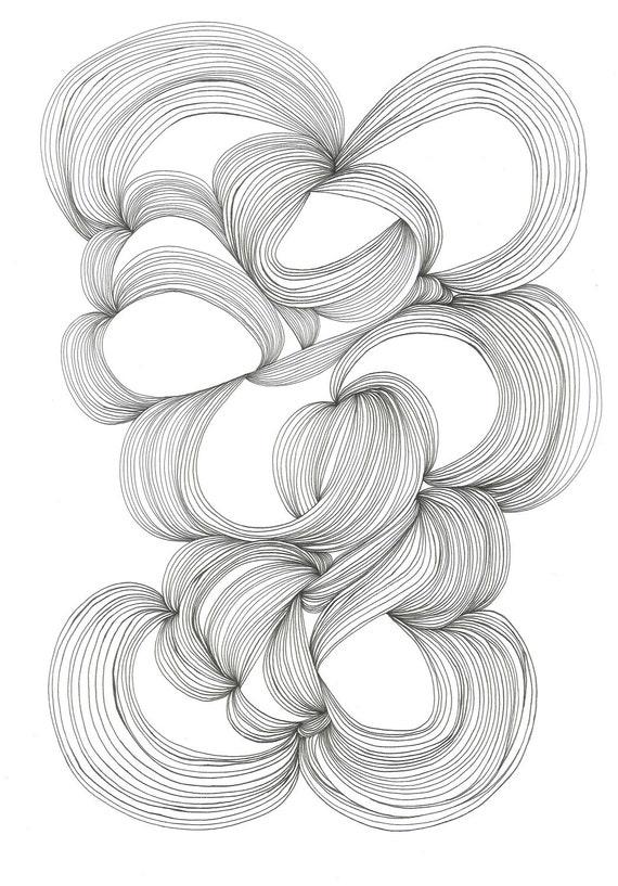 January 27, 2012 (Finite) - original ink drawing