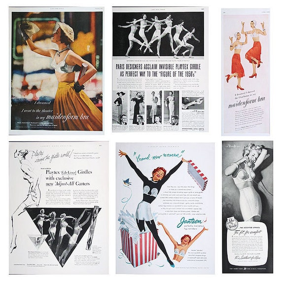 BRA/GIRDLE ADS Vintage 1950/1952  A Real Hoot