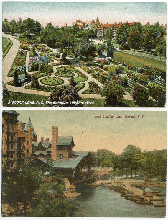 MOHONK MOUNTAIN House Upstate NY 2 Excellent Early Postcards c.1908