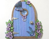 Sky Blue Lilac Fairy Door