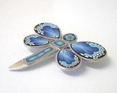 Shades of Blue Dragonfly Brooch