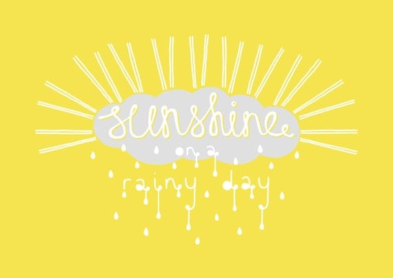 A4 Print - 'Sunshine on a Rainy Day'
