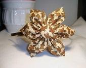 Gingerbread Flower Headband