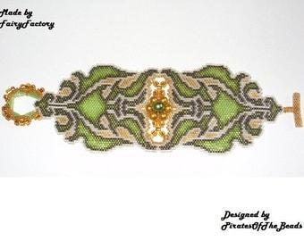 Beading Tutorial Pattern - Aphrodites Belt Cuff/Bracelet - Miyuki Delica PDF beading Tutorial - Bracelet Pattern PDF File