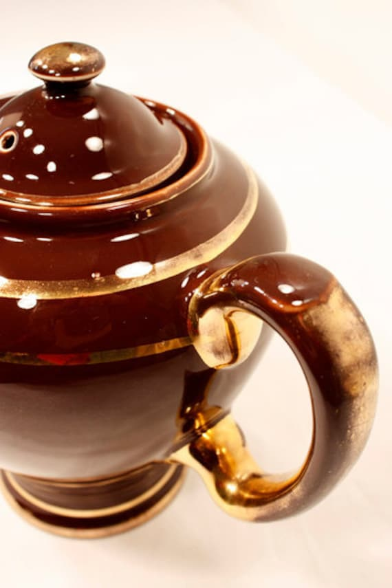 Reserved Rare Vintage Hall Mccormick Teapot Brown By