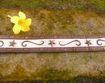 leather star studded belt