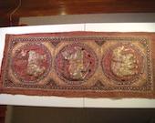 Extremely Rare -- Genuine Antique Burmese Kalaga Tapestry -- FREE SHIPPING