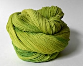 Limeade, 880 Yards, Hand Dyed Lace Weight Merino Yarn