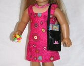"""18"""" Doll Outfit- American Girl Doll Outfit- Dress Sandals and Purse with Accessories Included"""