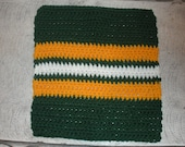 Green Bay Packers  crocheted cotton dish cloth