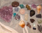 Crystal Reading with 2 Reiki-infused Crystals