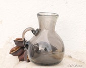 Hand Blown Glass Pitcher Vase