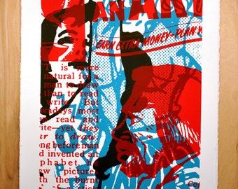 Be An Artist, silkscreen art print, 22 x 30 inches
