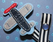 Air Plane Pacifier Clip