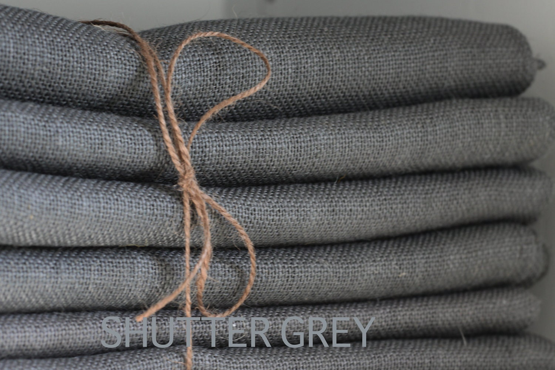 Dark Grey Burlap Table Runner Color Shutter By
