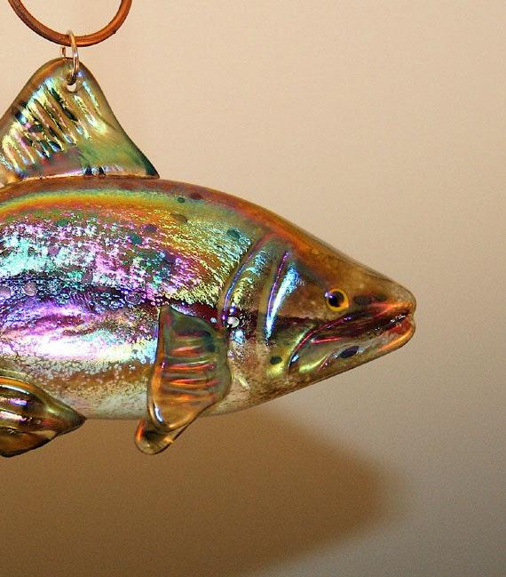 Glass Fish Sun Catcher/Ornament -Red Band Steelhead Trout