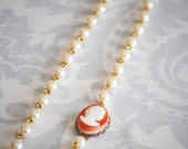 Vintage Style Necklace - Vintage Style Bridal Necklace - ANY LENGTH