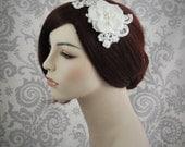 Ready To Ship - Bridal Hair Flower, Bridal Hair Piece, Bridal Accessoriesr, Hair Accessories - Lace & flower hair piece - 114HP