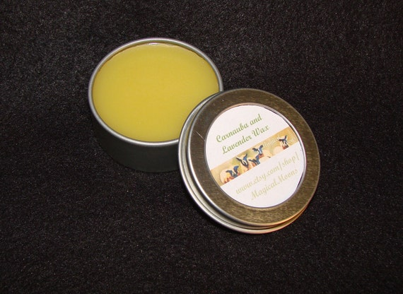 Small Size - Carnauba and Lavender Wax for Spinning Wheels and Looms - Made From 100%  Organic Ingredients (tbs)