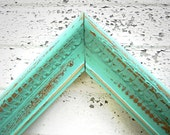 Vintage 8x10 Mint FRAME -  8 x 10 Rustic Vintage Aqua Mint Painted Frame