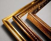 Set of Three 5x7 Vintage gold METAL Frames - 5 x 7 Wedding Table Number Photo Frames