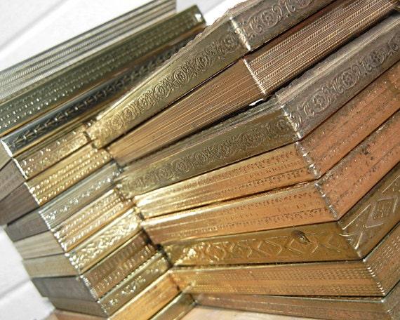 Set of 15- 5x7 Vintage gold METAL Frames - 5 x 7 Wedding Table Number Photo Frames