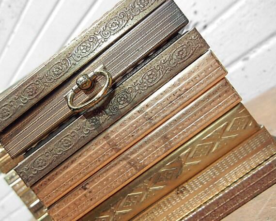 Set of Ten 3 1/2 x 4 1/2 Vintage gold METAL Frames - LARGE FRAME Set - 3 - 1/2 x 4 - 1/2 Wedding Table Number Photo Frames