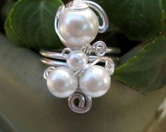 Turkish Pearl Wrapped Ring