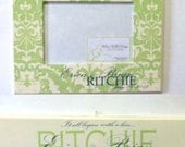 Coordinating personalized plaque and personalized frame for new baby or wedding