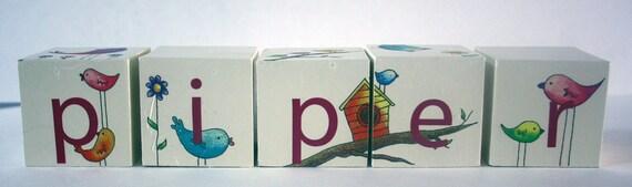 Custom Design for Kira- Personlized Baby Blocks (Mikala)