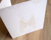 simple and pure Sympathy Card Wings with beautiful text