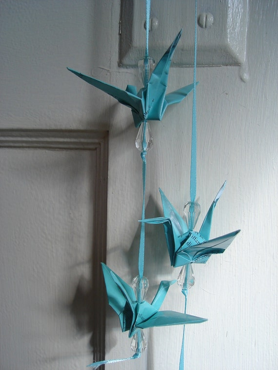 Tiffany's Catolog Blue Origami Bird Wedding Garlands