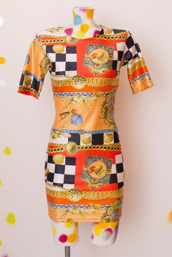 80's Versace inspired Mini Dress France