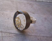 Antique steampunk(ish) watch part ring