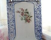 Antique French Drip Tray, Enamelware Utsensil Rack