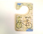 Bicycle Sign Tour Door Tag -  Cycle Map Printed Bike Ride Sign
